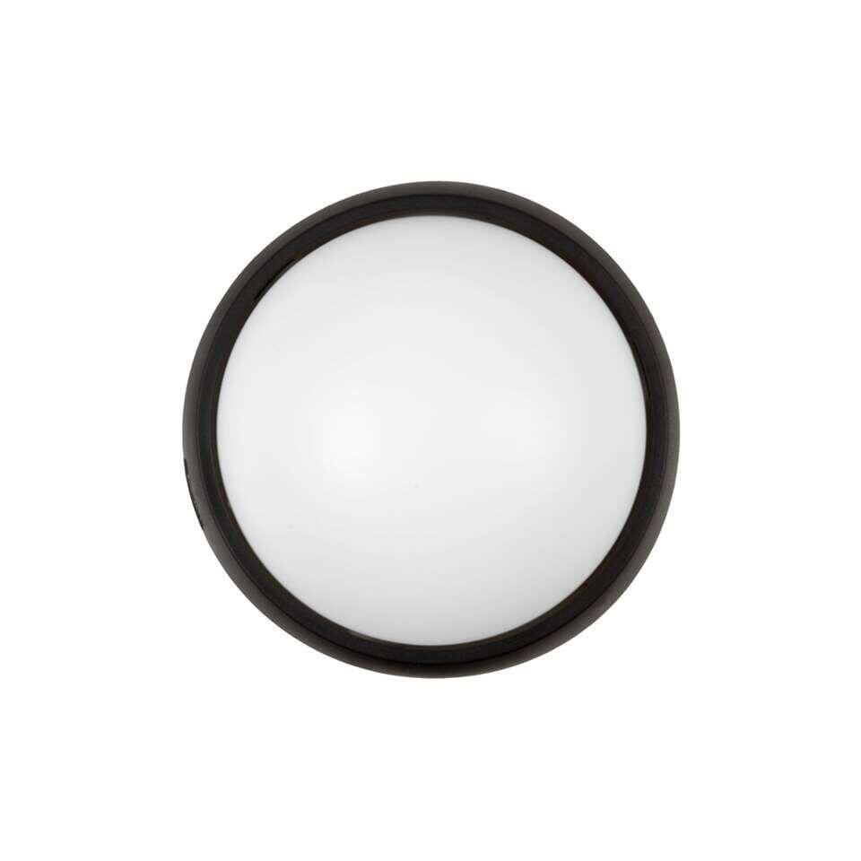 Lucide plafonniere Yazoo LED IP54 - zwart - 17x17x7,3 cm