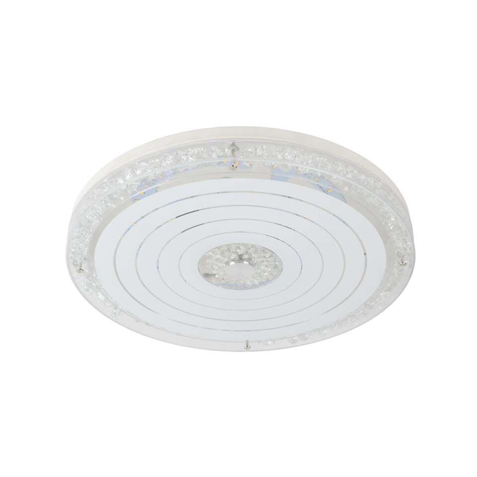 Een elegante vorm en warm wit licht. Plafondlamp Vivi koppelt een gezonde flair met gezellig en warm licht. De plafondlamp is perfect voor in de woonkamer of keuken. Het metalen design bevat een diffuser in acryl.