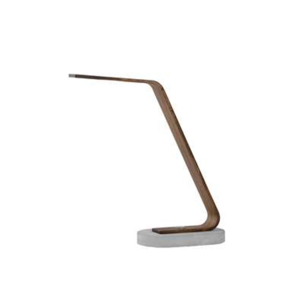Lucide bureaulamp Dani LED – licht hout – Leen Bakker
