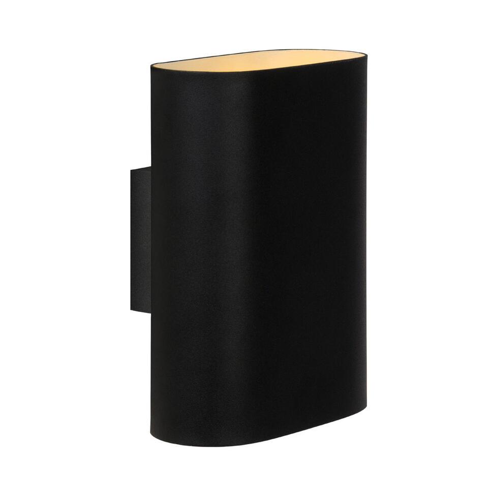 Lucide wandlamp Ovalis - zwart - Leen Bakker