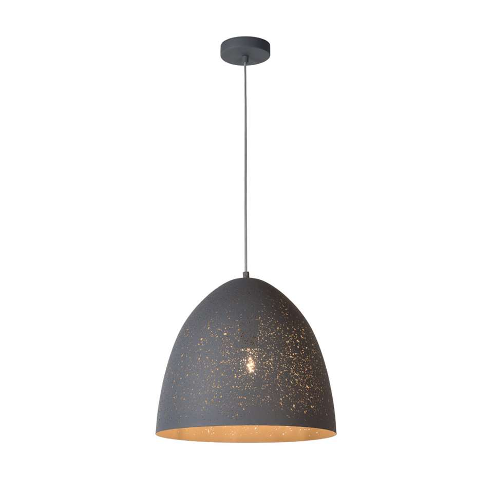 Lucide hanglamp Eternal – grijs – Ø40 cm – Leen Bakker
