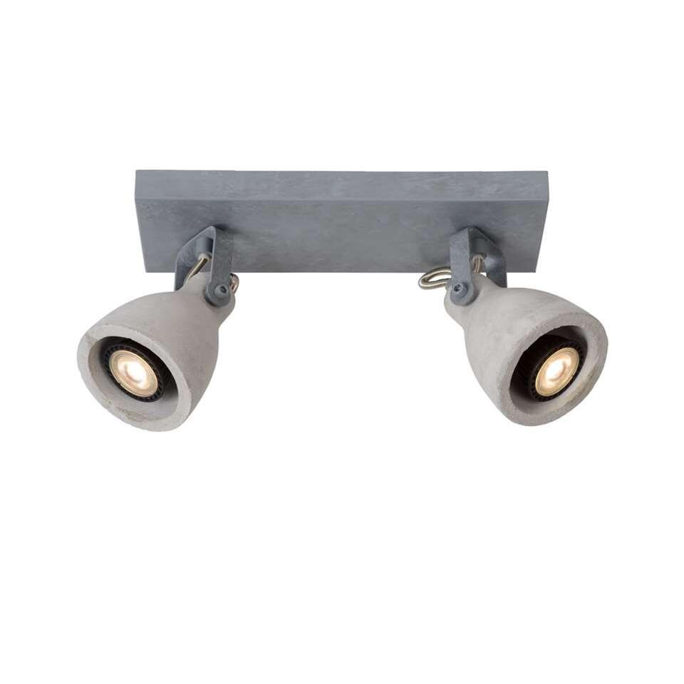 Lucide plafondspot Concri 2 LED - grijs - 9 cm