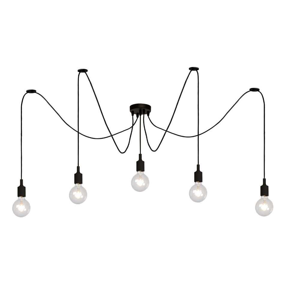 Lucide hanglamp Fix Multiple 5 - zwart - Leen Bakker