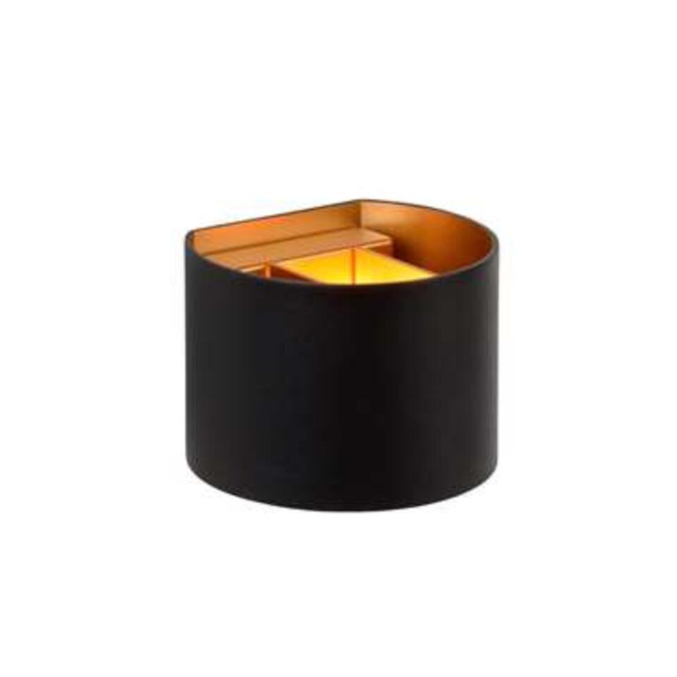 Lucide wandlamp Xio 1 LED – zwart – Leen Bakker