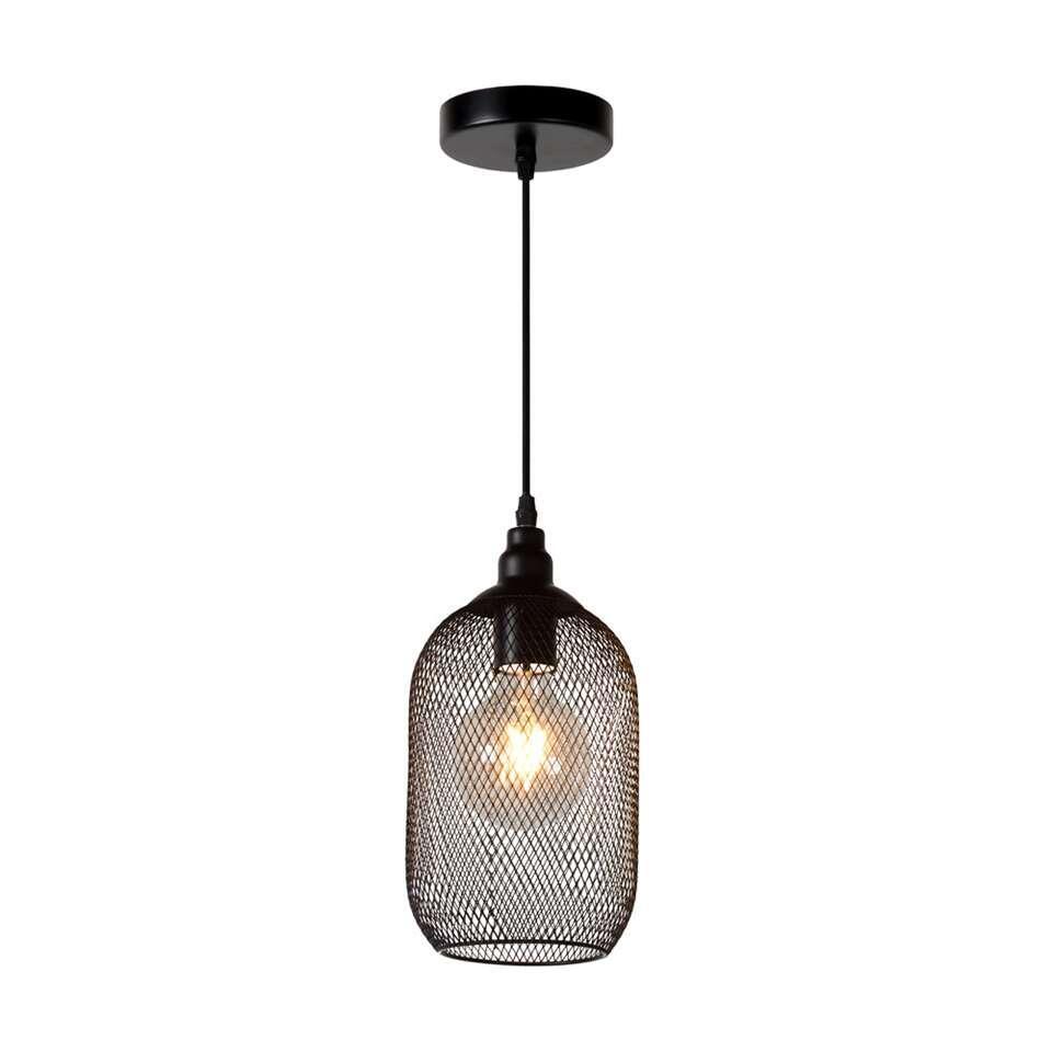 Lucide hanglamp Mesh - zwart - Ø15 cm - Leen Bakker