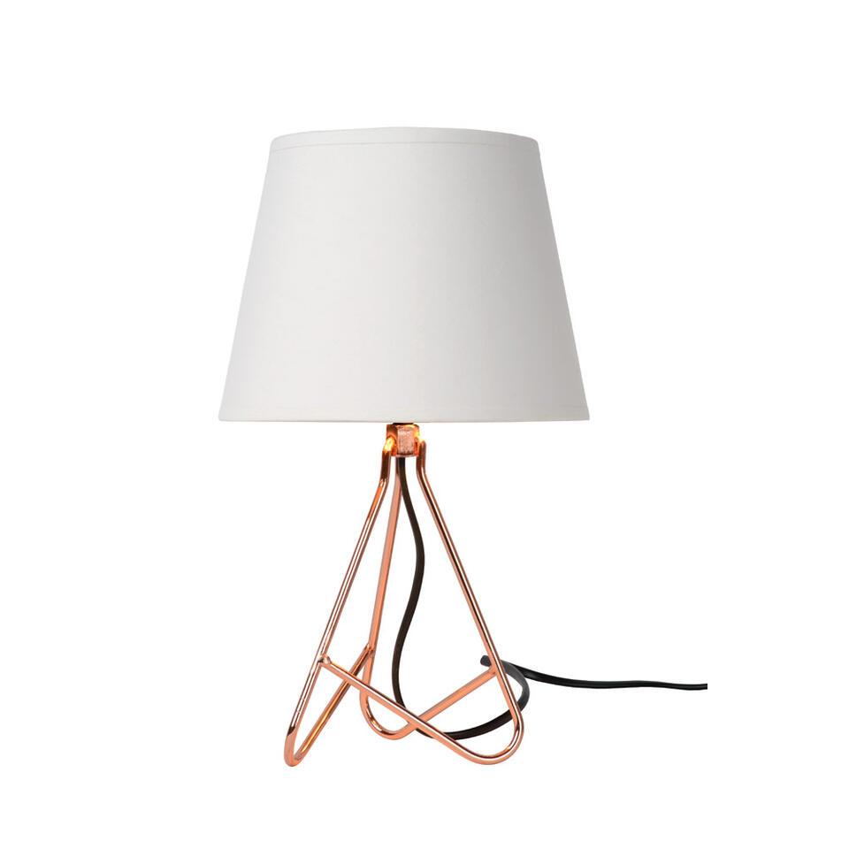 Lucide tafellamp Gitta - koper - Ø17 cm - Leen Bakker