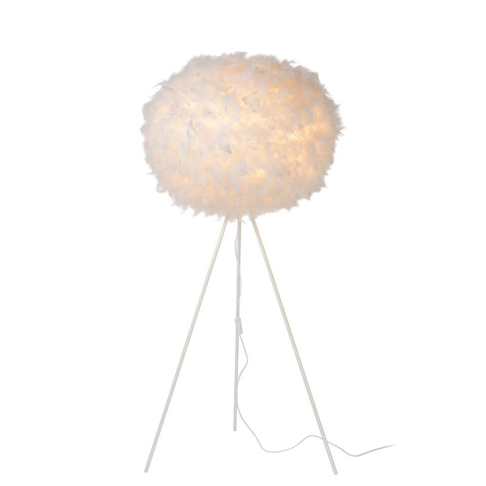 Lucide vloerlamp Goosy Soft – wit – Ø50 cm – Leen Bakker
