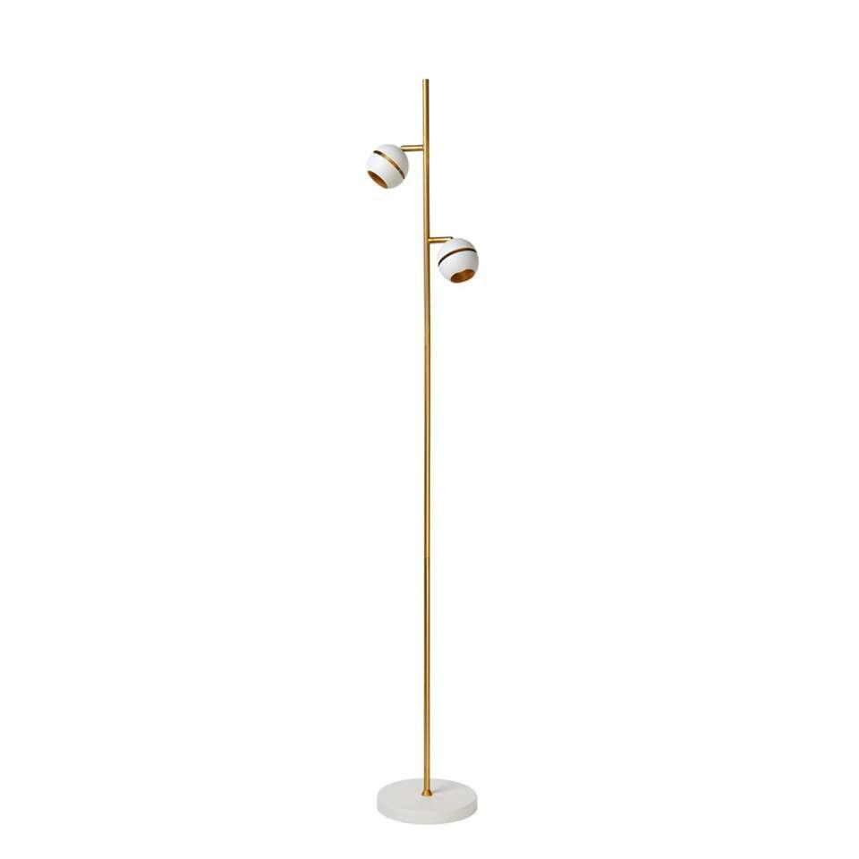Lucide vloerlamp Binari LED - wit - 20 cm