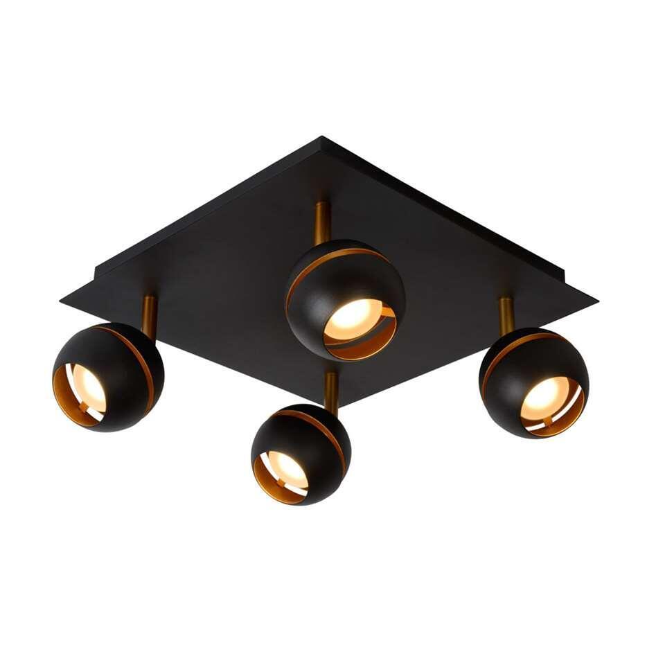 Vier lichtbronnen op een stevige basis. Dat is de Binari. De lichtbronnen hebben elk een sterkte van 5 watt. Hang deze plafondspot dus gerust in je keuken of in je woonkamer.