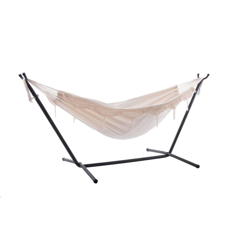 Vivere hangmat met standaard - 2-persoons - natural - Leen Bakker