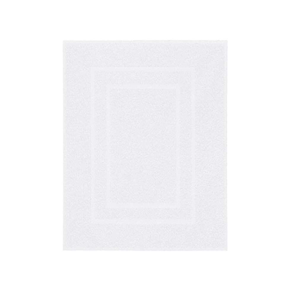 Kleine Wolke badmat Plaza - wit - 60x80 cm - Leen Bakker