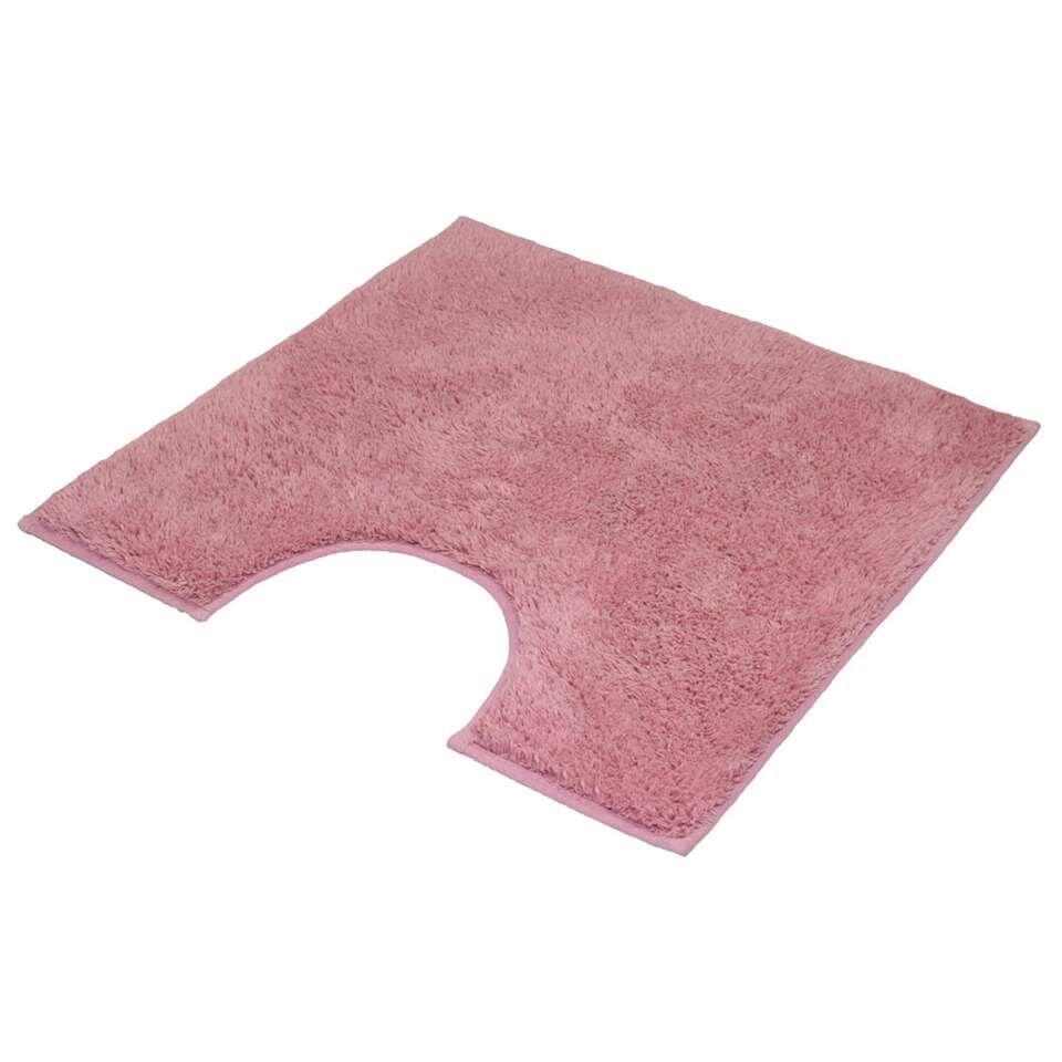 Kleine Wolke toiletmat Kansas - roze - 50x50 cm - Leen Bakker