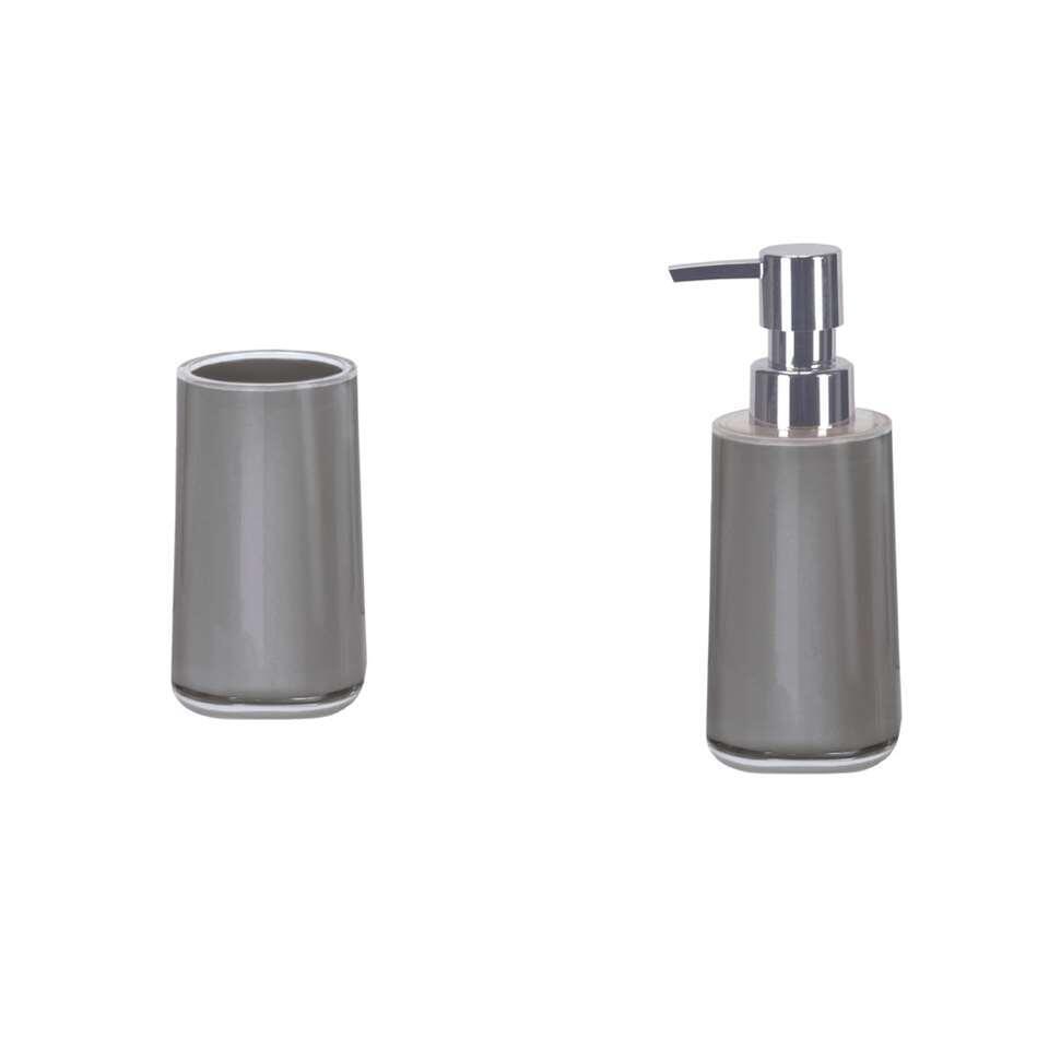 Kleine Wolke badkamerset Mable - grijs - Leen Bakker