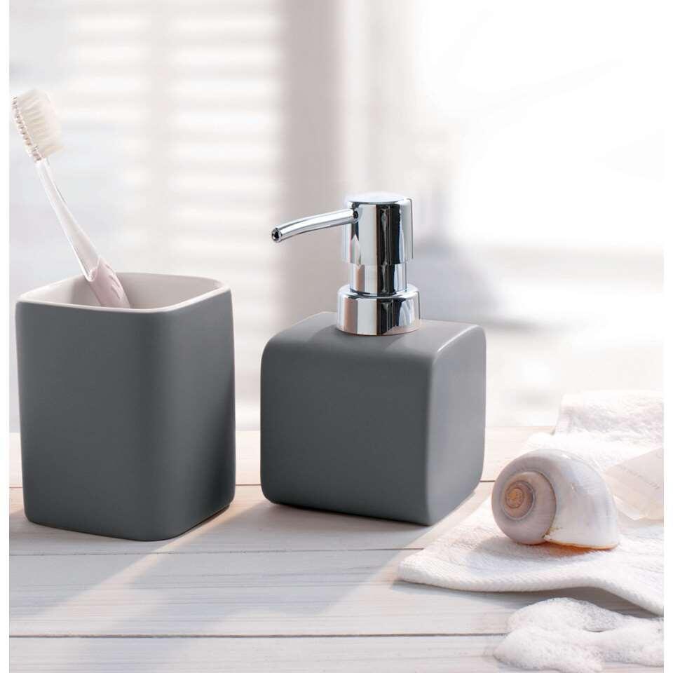 Kleine Wolke badkamerset Cubic - antraciet - Leen Bakker