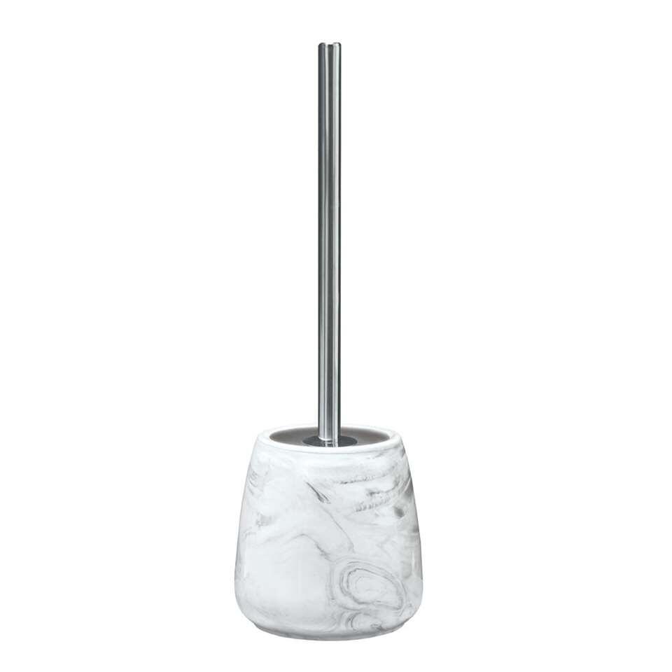 Kleine Wolke toiletborstel Marble - antraciet - 41,5x13,5 cm - Leen Bakker