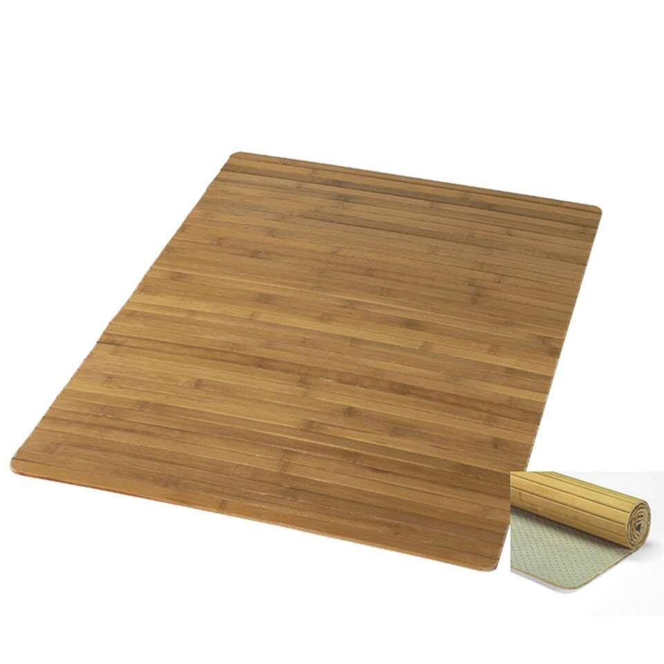 Kleine Wolke badmat Bambus - bruin - 60x115 cm