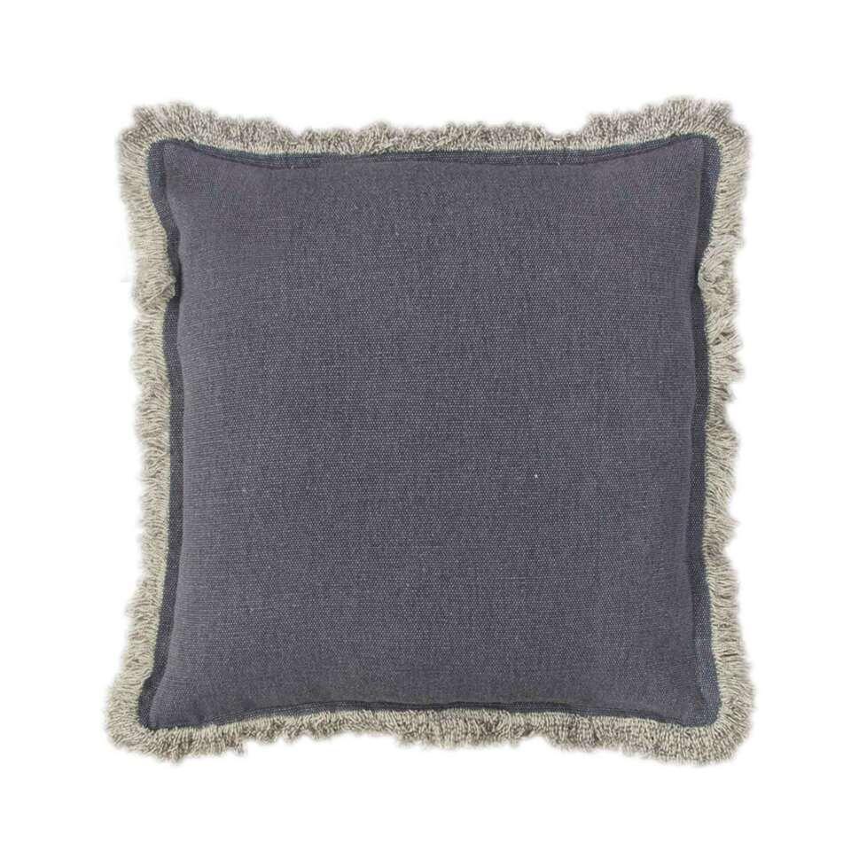 Heckett & Lane kussenhoes Orville – blauw – 50×50 cm – Leen Bakker
