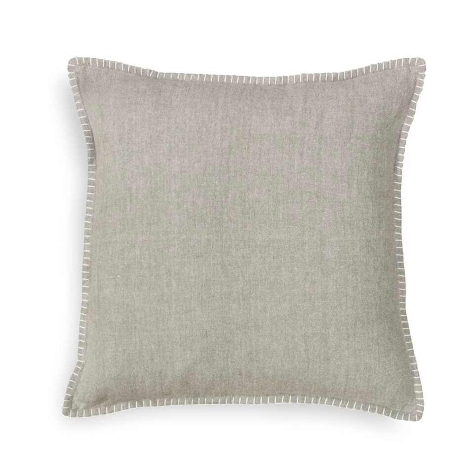 Heckett & Lane kussenhoes Pasi – grijs – 50×50 cm – Leen Bakker