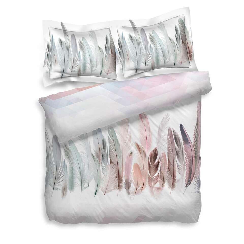 Heckett & Lane dekbedovertrek Finestock - roze - 240x200 cm - Leen Bakker