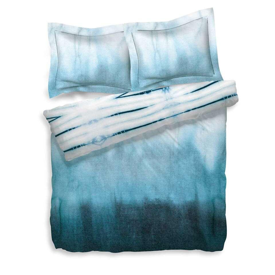 Heckett & Lane dekbedovertrek Ebru - blauw - 200x200 cm - Leen Bakker