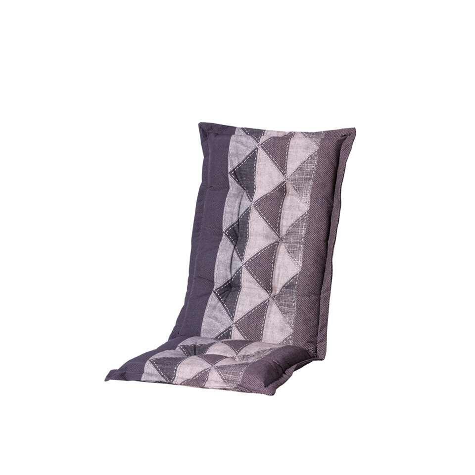 Madison terrasstoelkussen Triangle – grijs – 123×50 cm – Leen Bakker