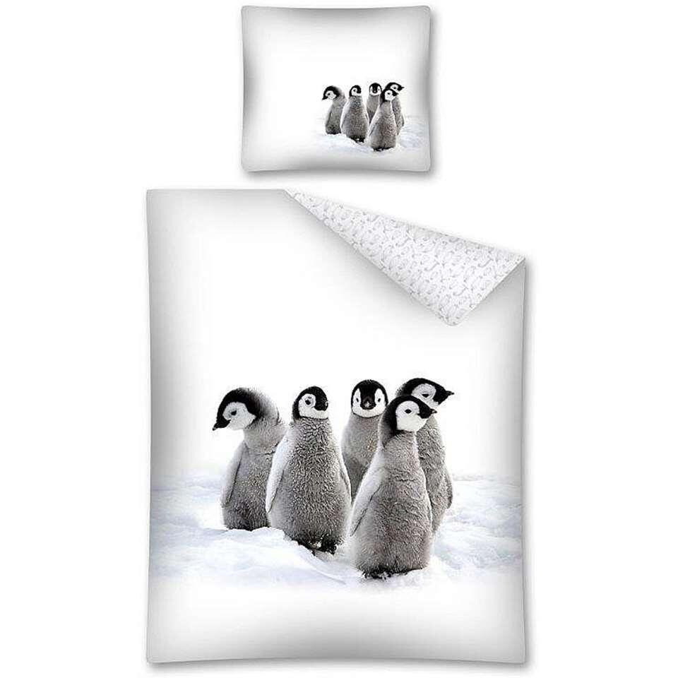 Dekbedovertrek Pinguins - 140x200 cm - Leen Bakker