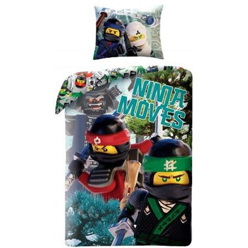 Dekbedovertrek LEGO Ninjago Ninja Moves - multikleur - 140x200 cm