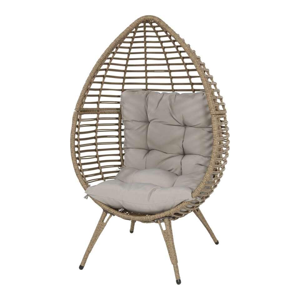 Relaxstoel Met Hocker.Relaxstoel Chill Beige 156x91x99 Cm