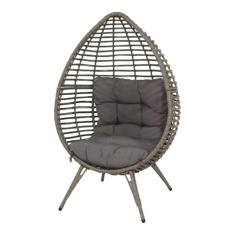 Relaxstoel Chill - grijs - 156x91x99 cm - Leen Bakker