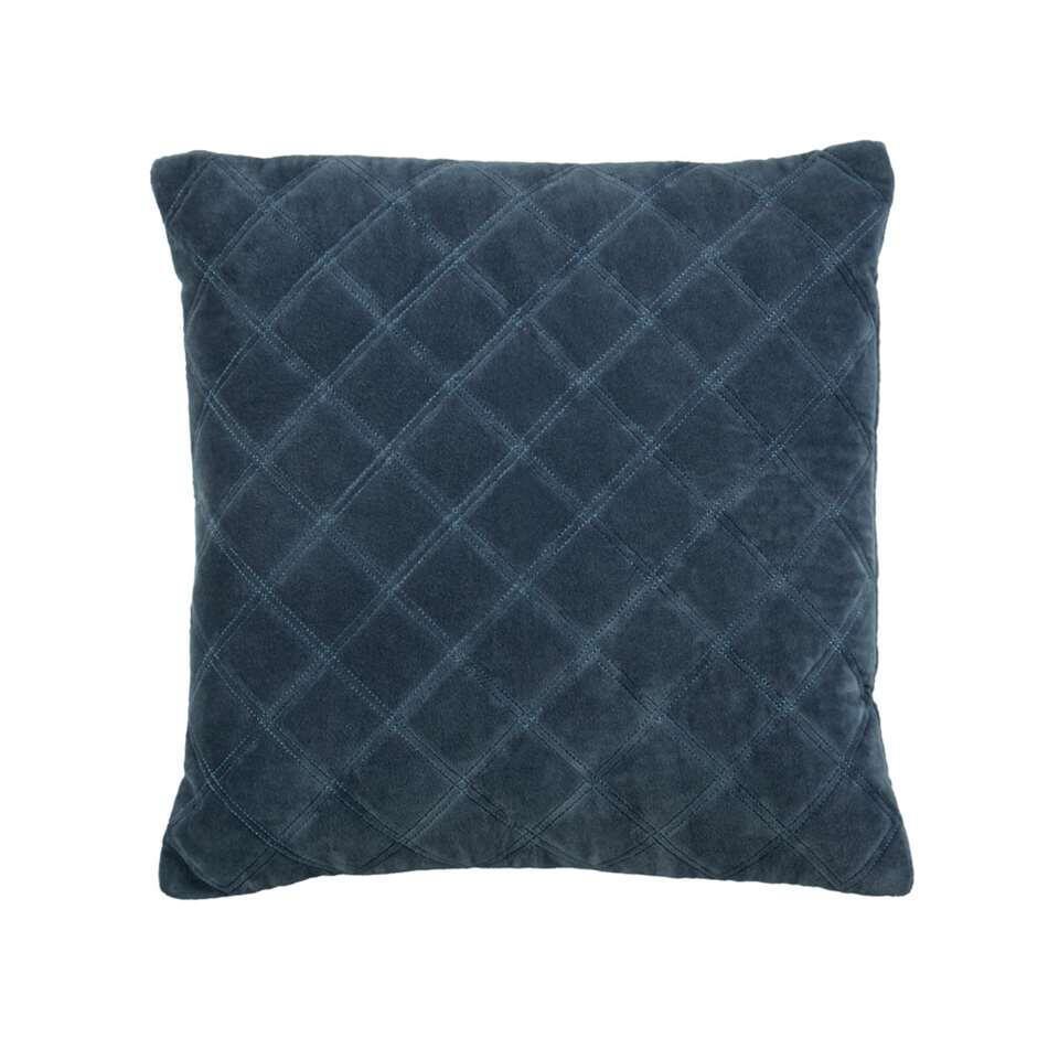 KAAT Amsterdam sierkussen Vercors - blauw grijs - 43x43 cm - Leen Bakker