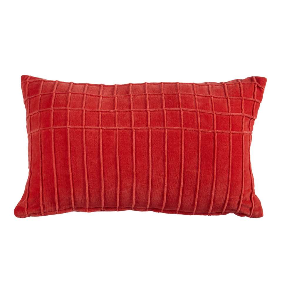 KAAT Amsterdam sierkussen Aura - rood - 30x50 cm - Leen Bakker