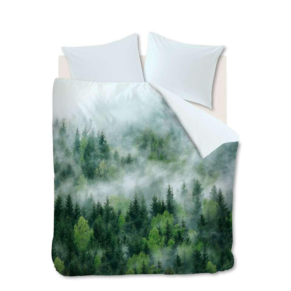 Ambiante dekbedovertrek Moltas - groen - 140x200/220 cm - Leen Bakker