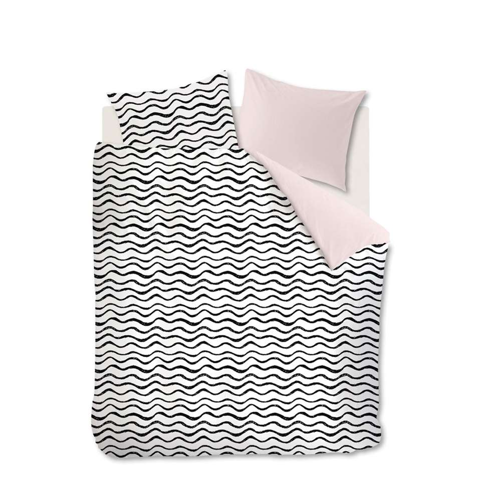 Ambiante dekbedovetrek Loke - soft pink - 240x200/220 cm - Leen Bakker