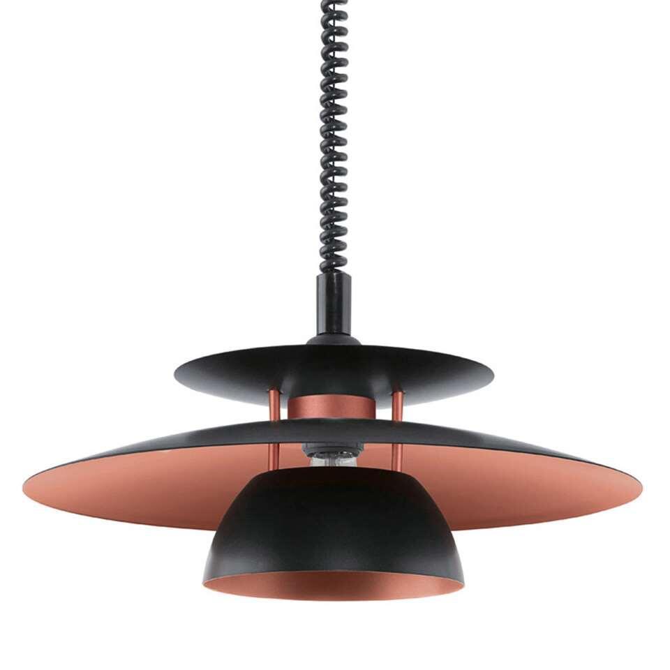 EGLO hanglamp Brenda - zwart/koper - Ø43 cm - Leen Bakker