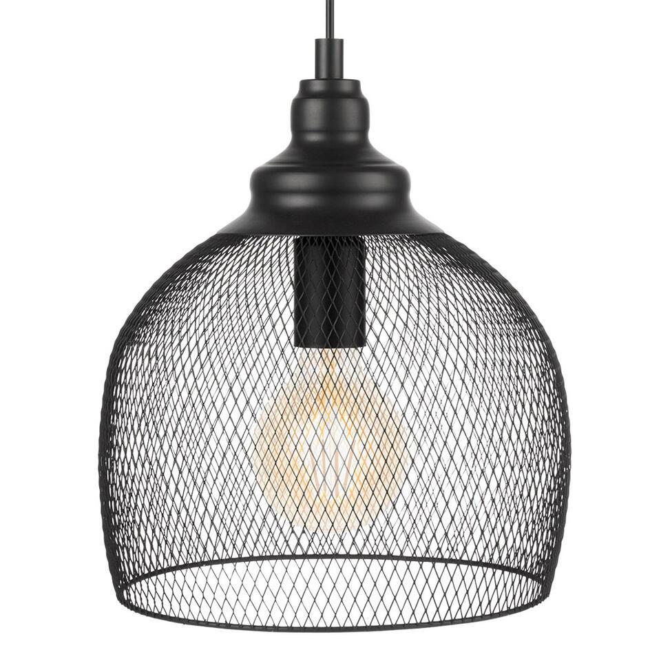 Hanglamp Straiton van EGLO is een trendy blikvanger gemaakt van staal met een zwarte afwerking en heeft een diameter van 28 cm. Door het open design van deze kap wordt er een mooie lichtspreiding gecreëerd.