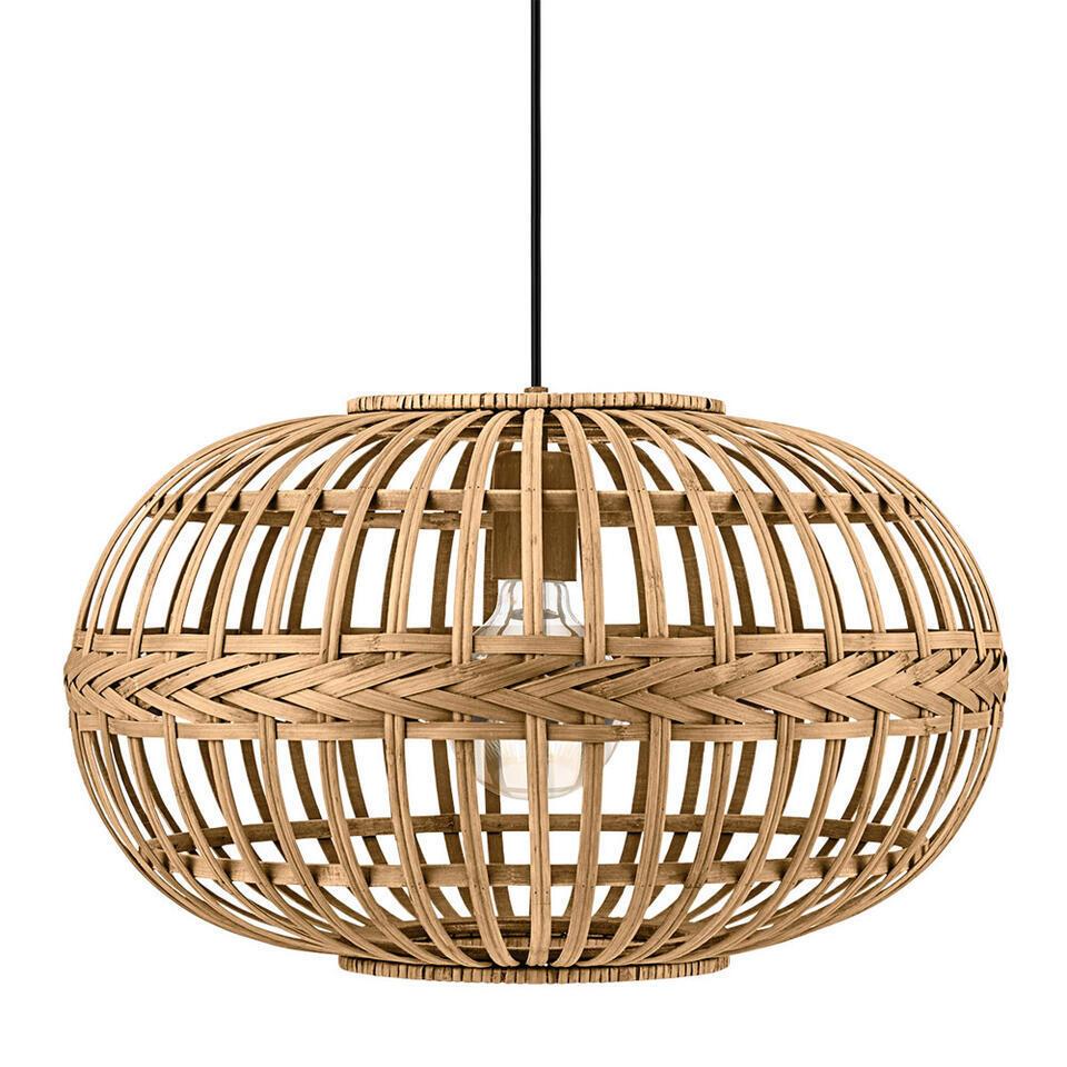 Hanglamp Amsfield van EGLO is een moderne hanglamp gemaakt van gebogen en gevlochten hout en heeft een diameter van 38 cm.