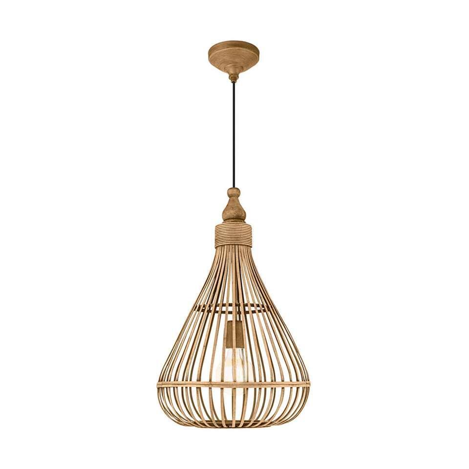 EGLO hanglamp Amsfield – bamboe – Ø35 cm – Leen Bakker