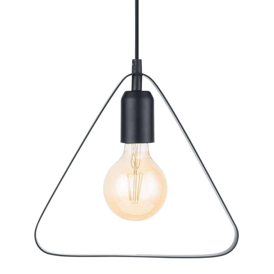 Hanglamp Bedington van EGLO is een moderne en minimalistische hanglamp in de vorm van een driehoek gemaakt van staal met een zwarte zijdeglans afwerking.