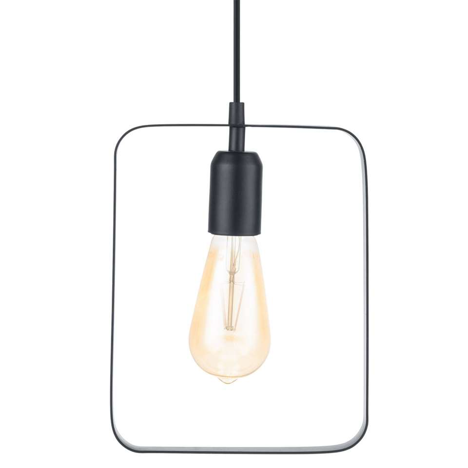 EGLO hanglamp Bedington rechthoek - zwart - Leen Bakker