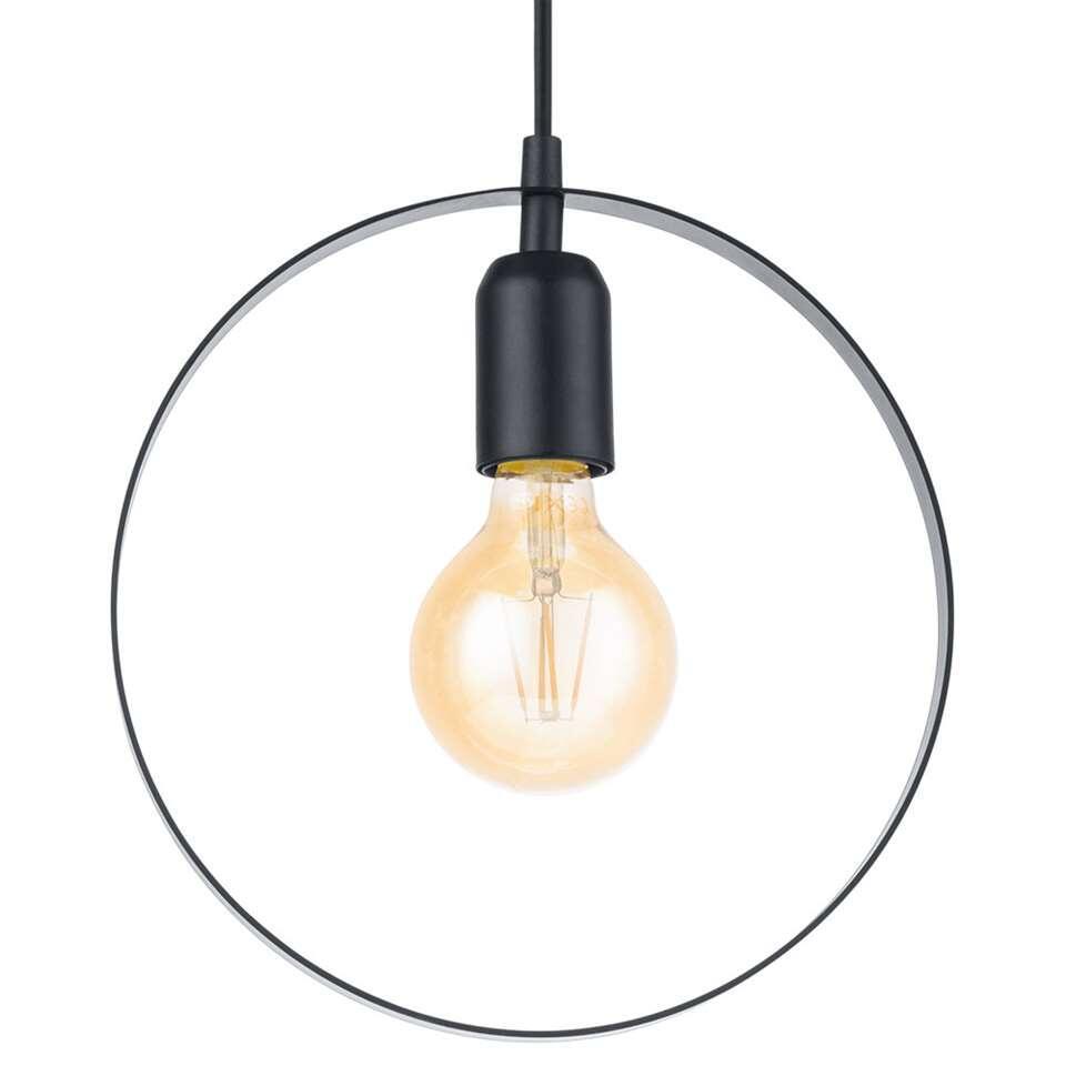 EGLO hanglamp Bedington rond – zwart – Leen Bakker