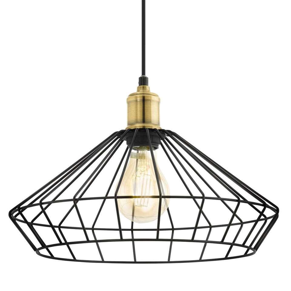 EGLO hanglamp Denham - zwart/brons - Ø35 cm - Leen Bakker