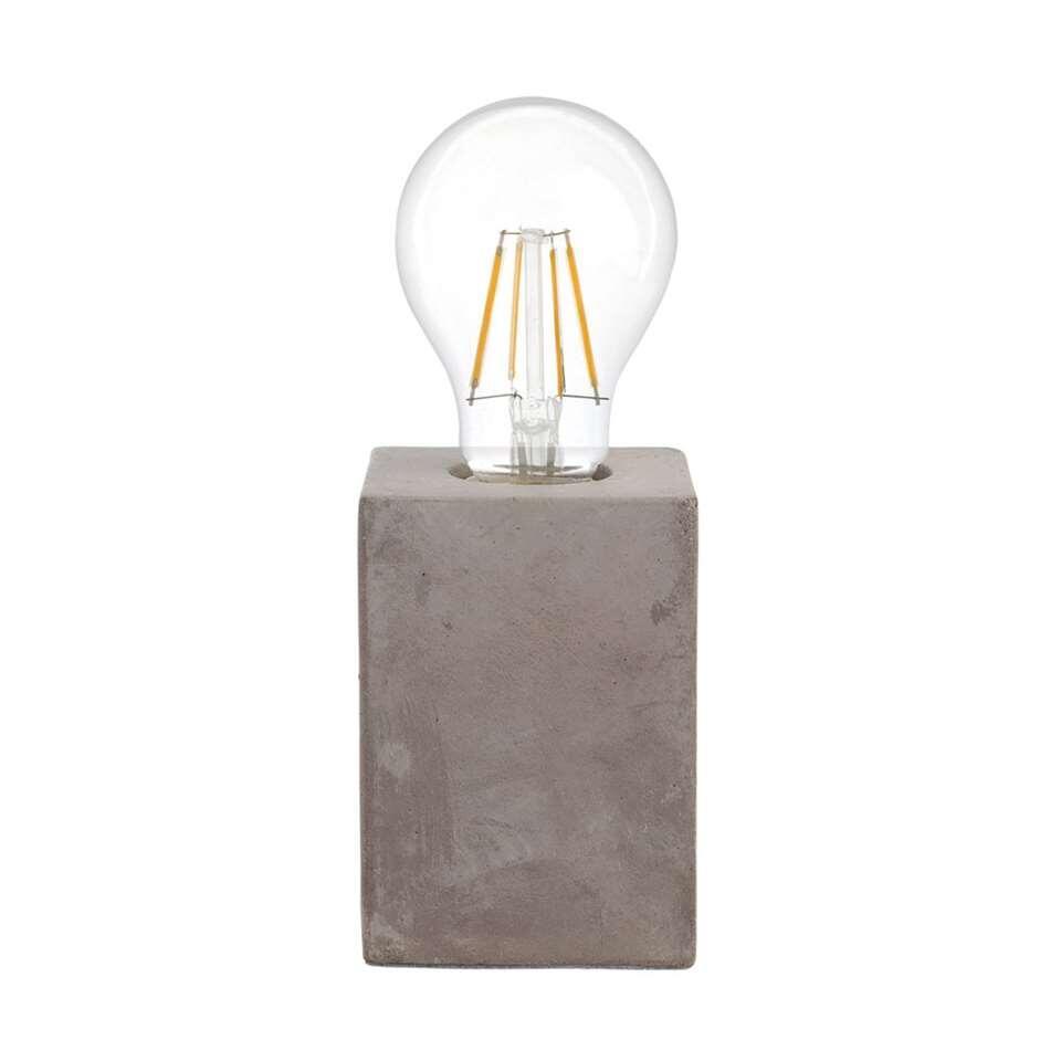 Tafellamp van Prestwick van EGLO is een trendy en minimalistische tafellamp gemaakt van keramiek afgewerkt met de grijze betonlook.
