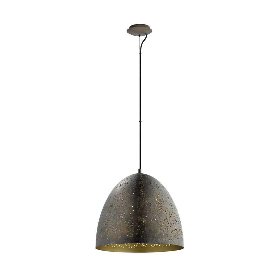Bekend EGLO hanglamp Safi - bruin/goud - Ø40 cm &IM91