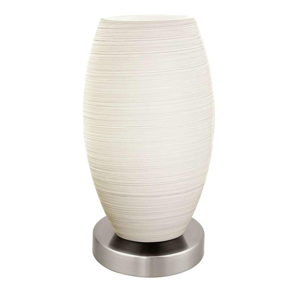 EGLO tafellamp Batista 3 - nikkel/wit - Leen Bakker