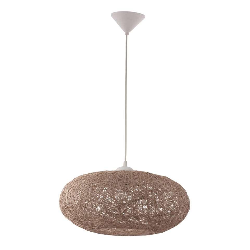 Hanglamp Campilo van EGLO is een trendy hanglamp gemaakt van kunststof met een rieten kap en heeft een diameter van 45 cm.