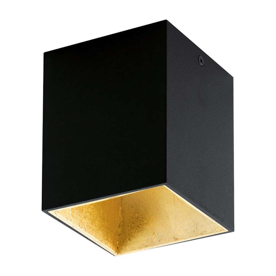 Plafondspot Polasso van EGLO is een moderne en chique LED plafondspot gemaakt van kunststof en aluminium en afgewerkt in de kleuren zwart gecombineerd met goud.