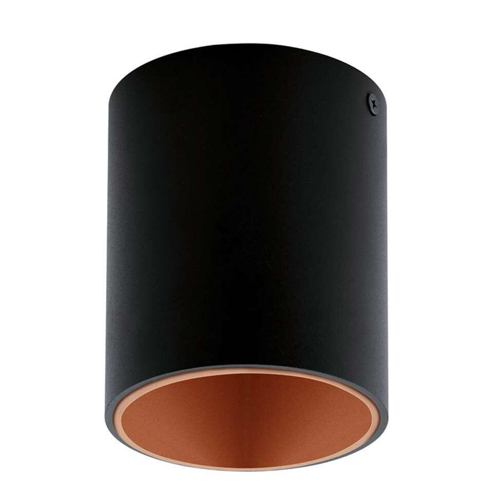 Plafondspot Polasso van EGLO is een moderne LED plafondspot gemaakt van kunststof en aluminium met een diameter van 10 cm. De plafondspot is afgewerkt in de kleuren zwart gecombineerd met koper.