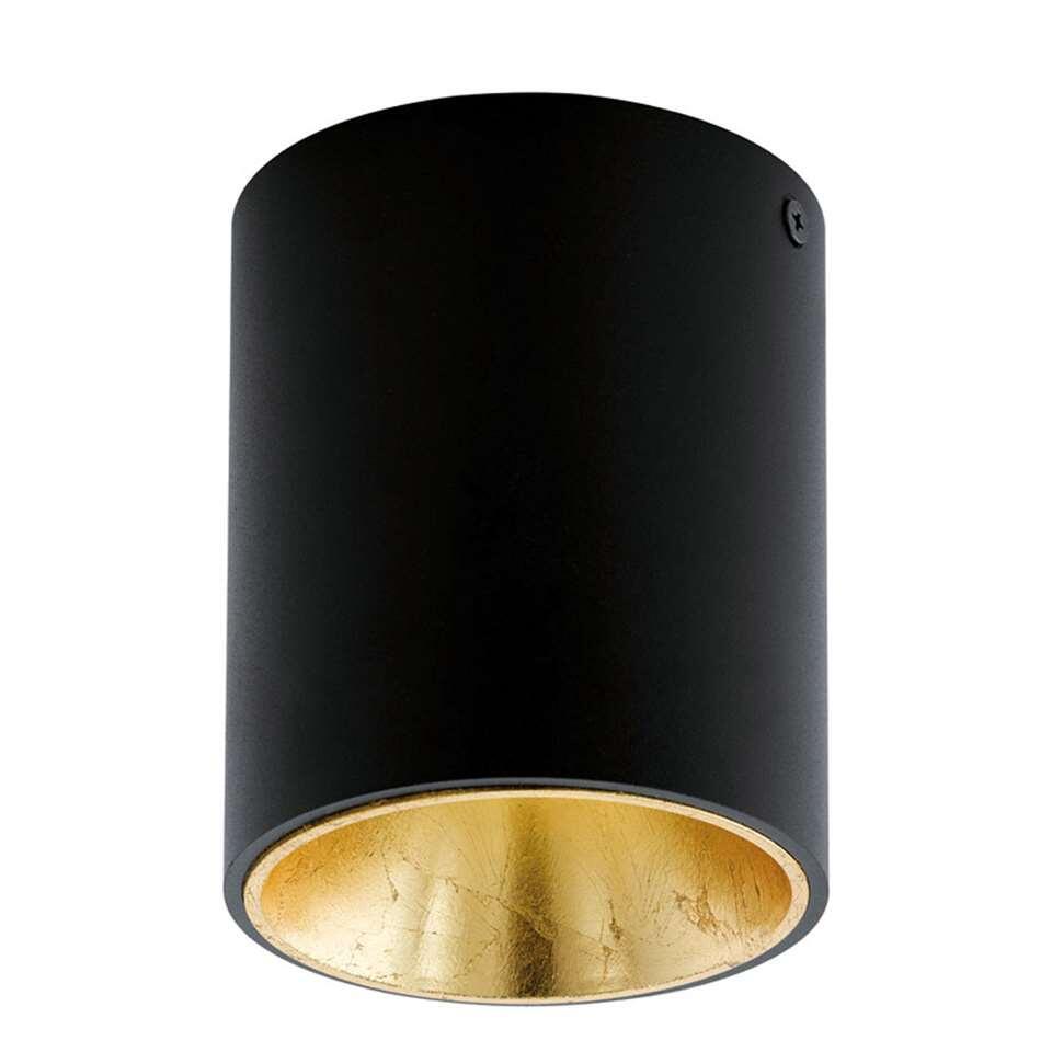 Plafondspot Polasso van EGLO is een moderne LED plafondspot gemaakt van kunststof en aluminium met een diameter van 10 cm. Door de kleurencombinatie van zwart met goud krijgt de plafondspot een chique uitstraling.