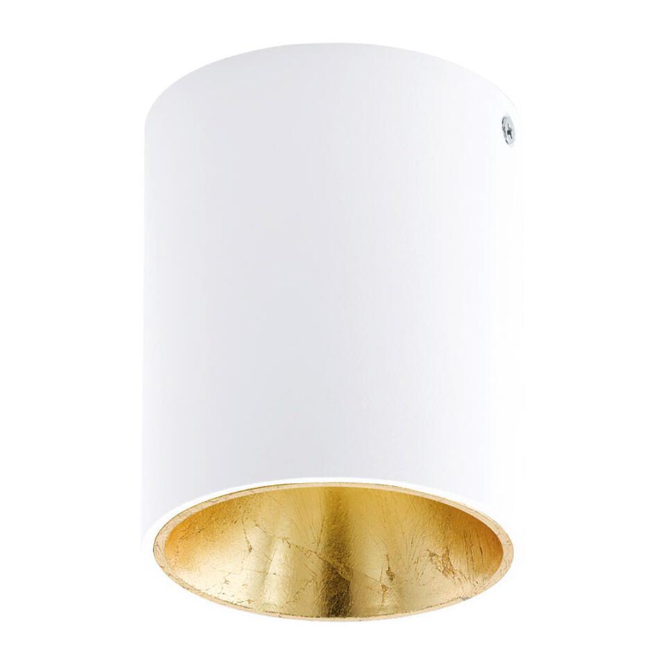 Plafondspot Polasso van EGLO is een moderne LED plafondspot gemaakt van kunststof en aluminium met een diameter van 10 cm. Door de kleurencombinatie van wit met goud krijgt de plafondspot een chique uitstraling.