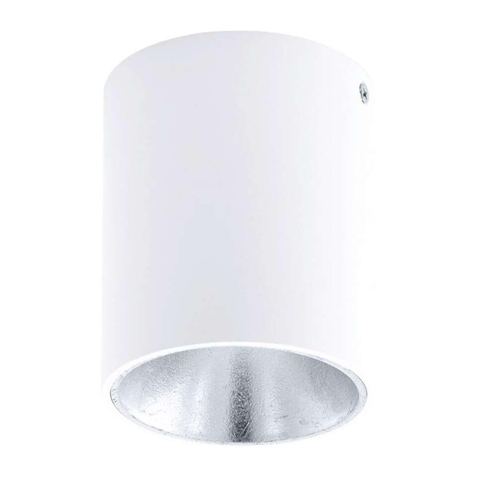 Plafondspot Polasso van EGLO is een moderne LED plafondspot gemaakt van kunststof en aluminium met een diameter van 10 cm. Door de kleurencombinatie van wit met zilver krijgt de plafondspot een chique uitstraling.